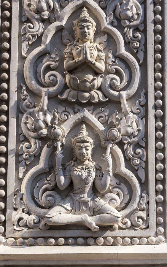 从佛教寺庙的细节 免版税库存图片