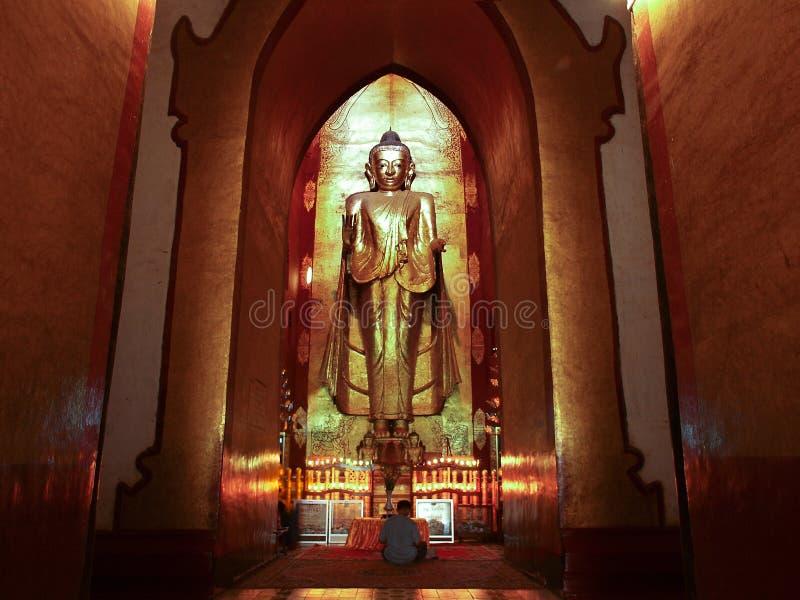 佛教寺庙,阿南达寺庙, Bagan,缅甸(缅甸)。 免版税库存照片