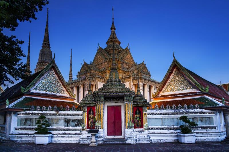 佛教寺庙, Wat Pho寺庙在曼谷、地标和没有1旅游胜地在泰国。 免版税库存照片