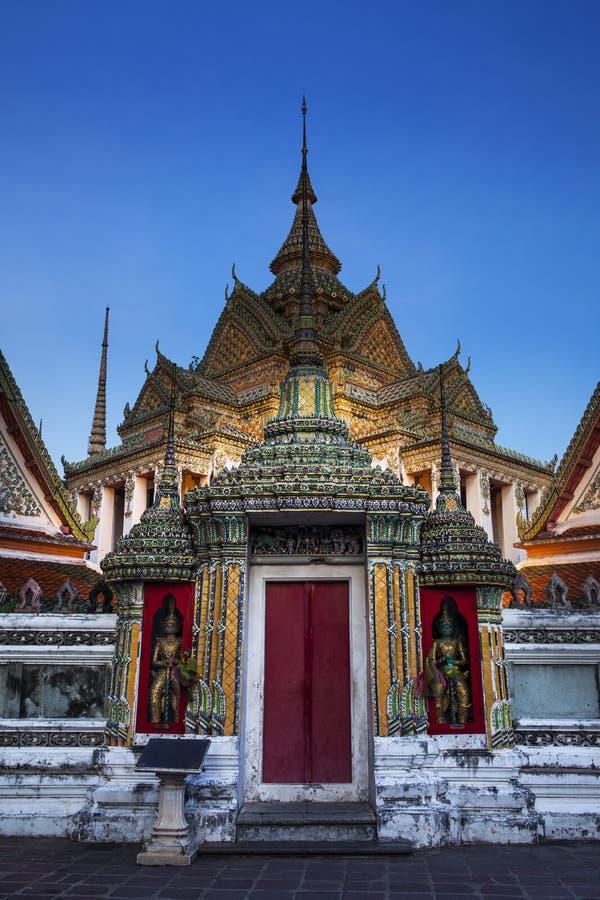 佛教寺庙, Wat Pho寺庙在曼谷 库存照片