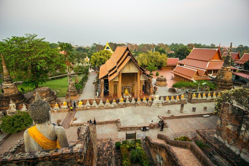 佛教寺庙-阿尤特拉利夫雷斯古城 库存照片