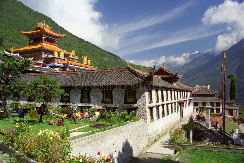 佛教寺庙 免版税图库摄影