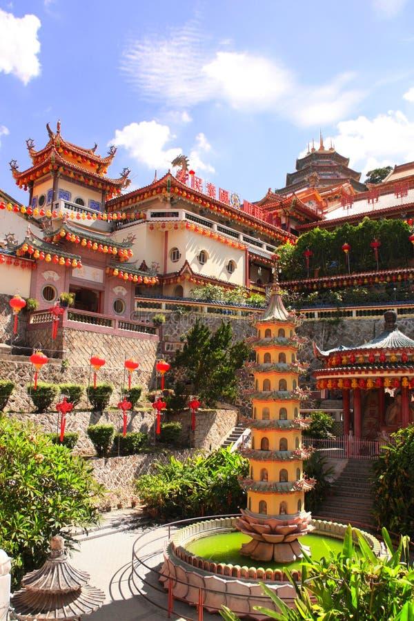 佛教寺庙Kek Lok Si,乔治城,槟榔岛海岛,马来西亚 图库摄影