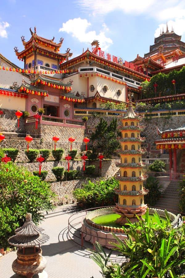 佛教寺庙Kek Lok Si,乔治城,槟榔岛海岛,马来西亚 免版税库存图片