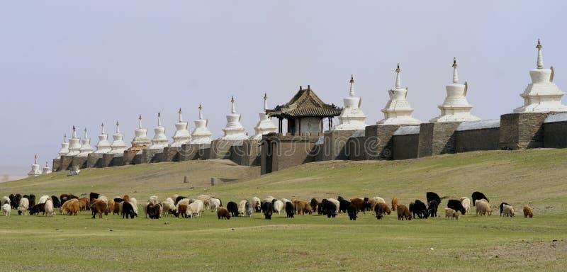 佛教徒修道院蒙古 库存照片