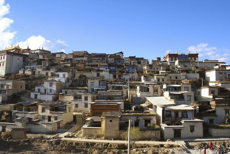 佛教徒修道院藏语 免版税库存图片