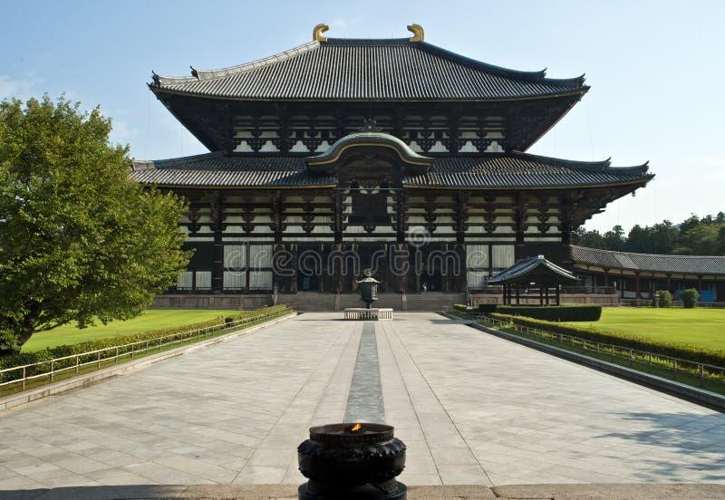 佛教日本奈良寺庙todaiji 免版税库存照片