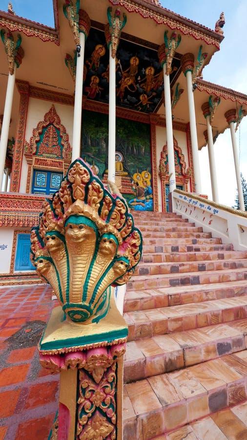 佛教柬埔寨详细资料sisophon寺庙 库存图片