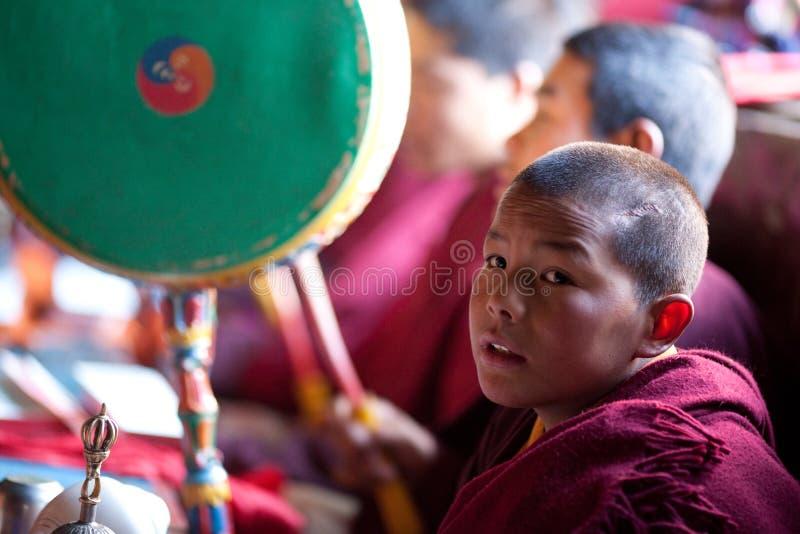 佛教矮小的修士 免版税库存照片