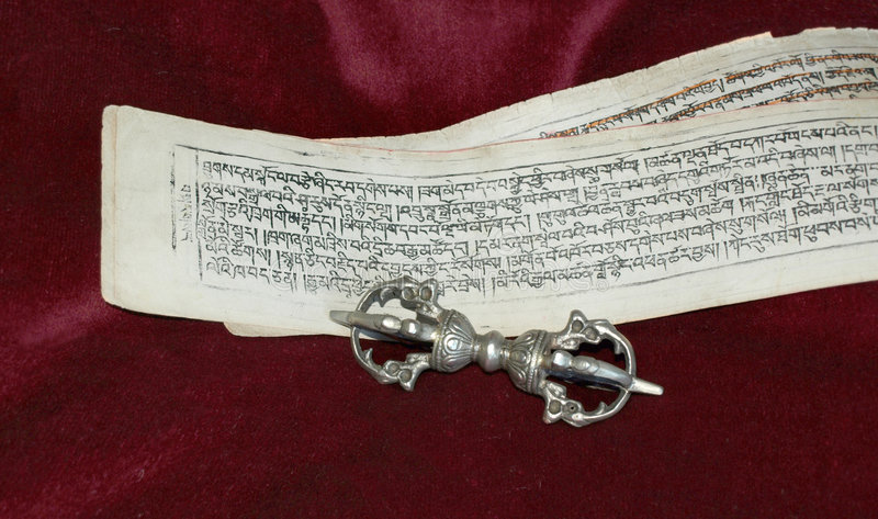 佛教系列符号文本vajra 免版税库存图片