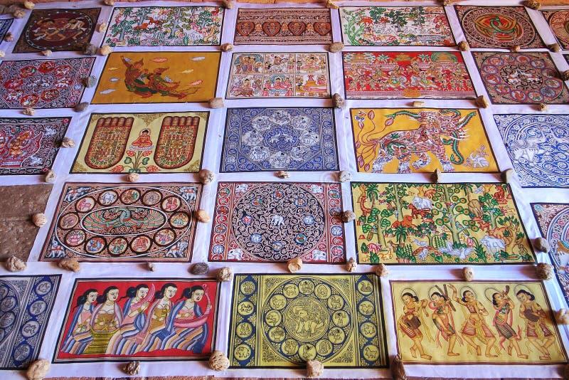 佛教缅甸纪念品 库存照片