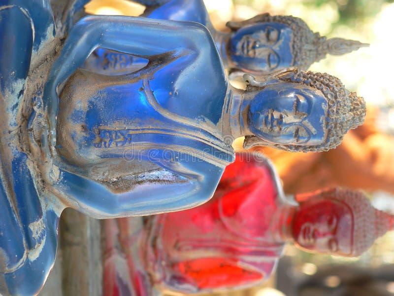 佛教老雕象 免版税库存照片