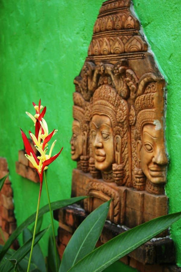 佛教花ima泰国传统热带 图库摄影