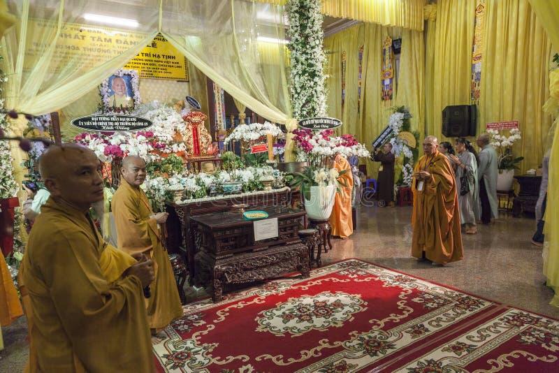 佛教葬礼 库存照片