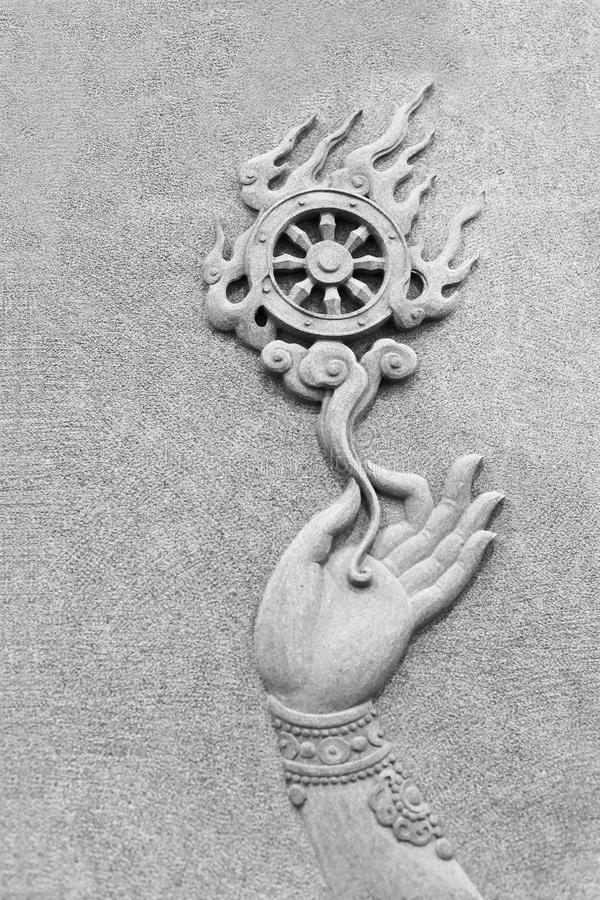 佛教轮子 库存照片