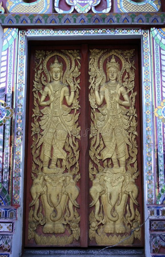 佛教门 免版税图库摄影