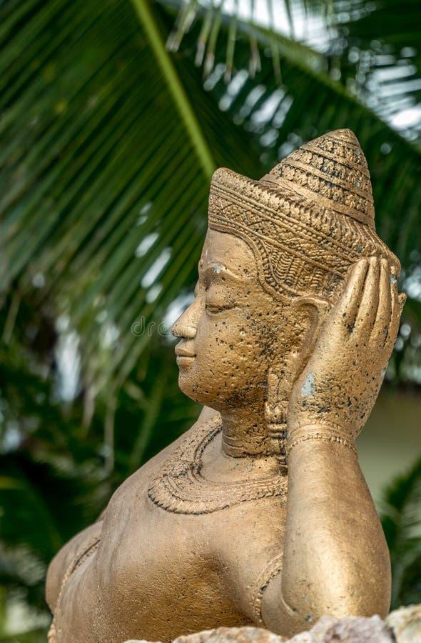 佛教雕象在拉迈 库存图片