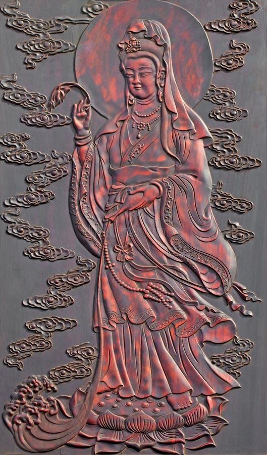 佛教雕象 免版税库存图片