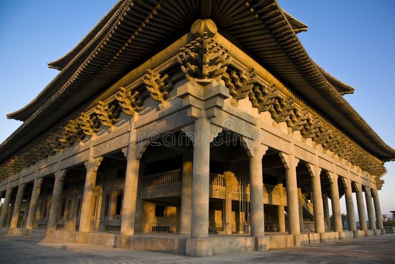 佛教韩文寺庙 免版税库存图片