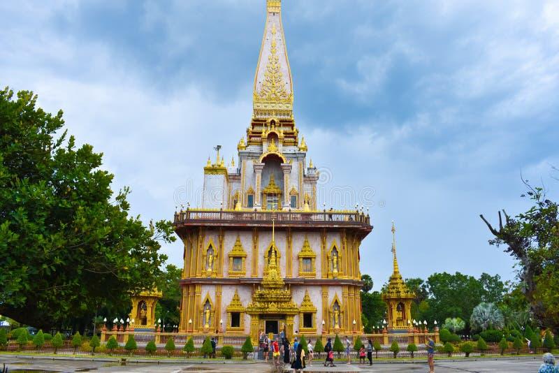 佛教chalong寺庙泰国wat 免版税图库摄影