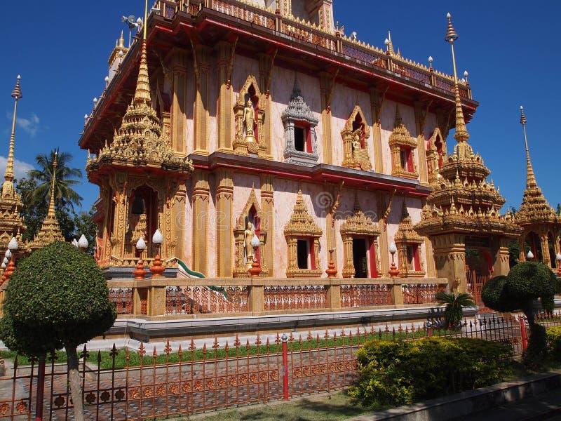 佛教chalong寺庙泰国wat 免版税库存照片