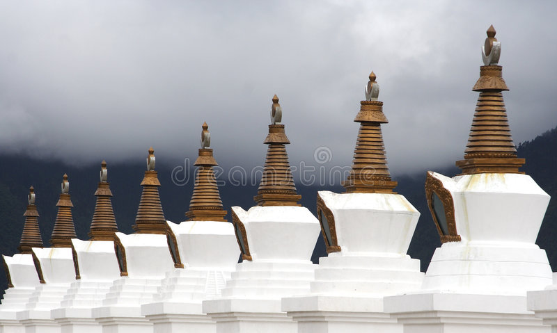 佛教stupas 库存照片