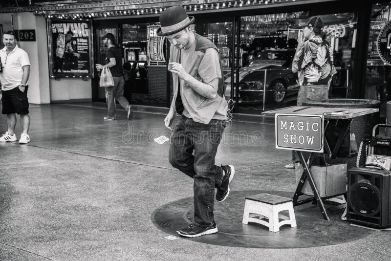 佛瑞蒙街经验的魔术师 免版税库存照片