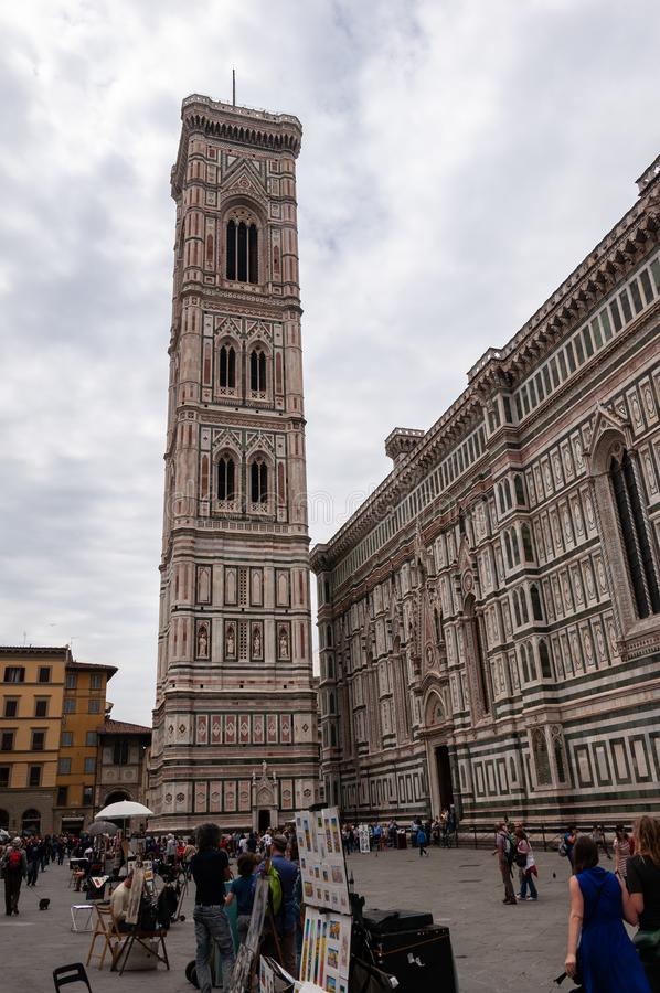 佛罗伦萨、联合国科教文组织遗产和家意大利新生的,有很多著名纪念碑和艺术作品全世界 库存图片