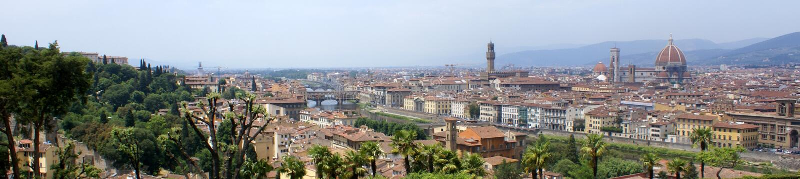 佛罗伦萨佛罗伦萨全景视图 免版税库存照片