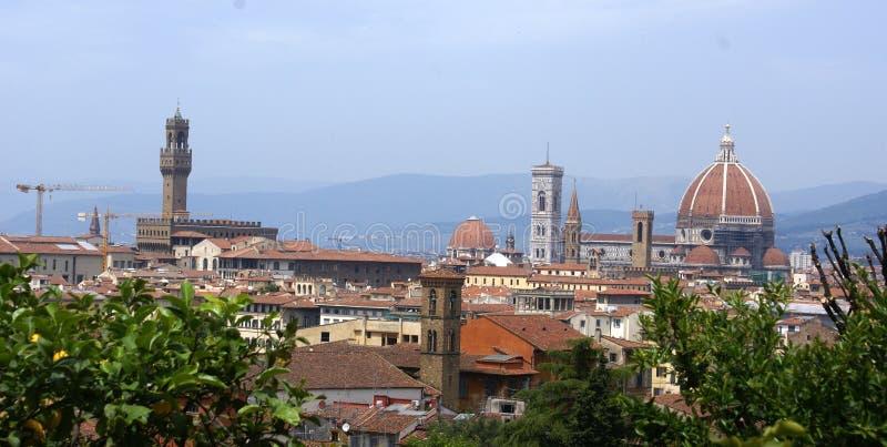 佛罗伦萨全景视图 库存照片