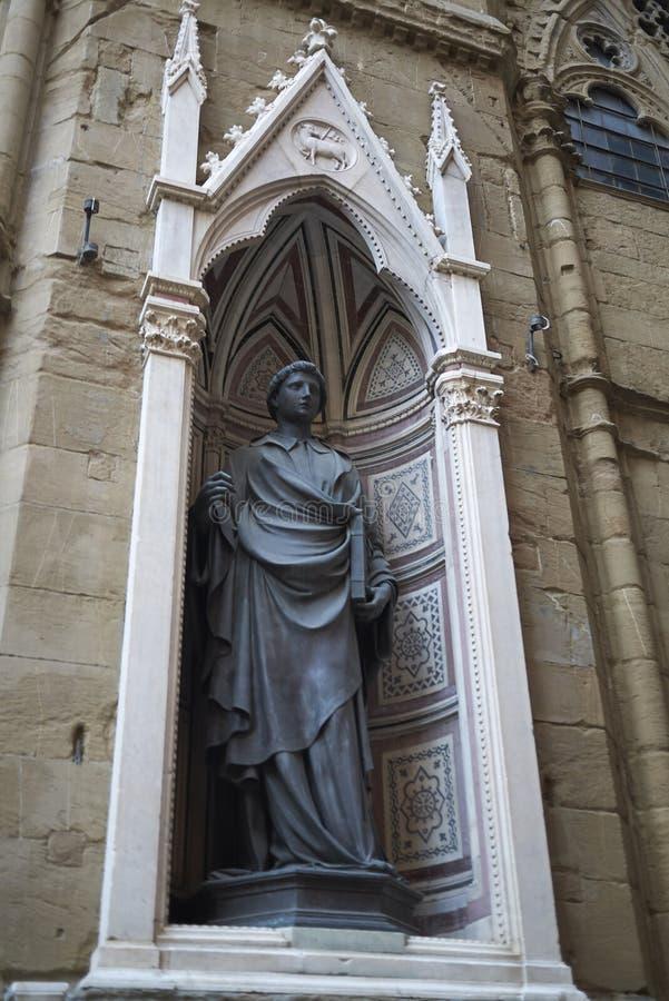 佛罗伦萨圣弥额尔教堂教会看法  图库摄影