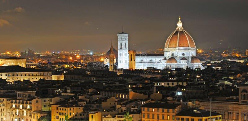 佛罗伦萨在夜之前 库存图片