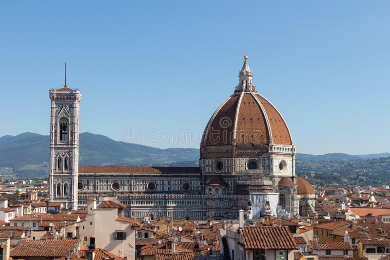 佛罗伦萨大教堂在一个晴天,托斯卡纳,意大利 库存图片