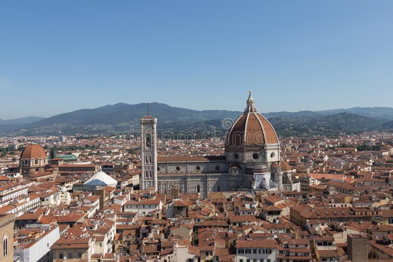 佛罗伦萨大教堂在一个晴天,托斯卡纳,意大利 免版税库存照片
