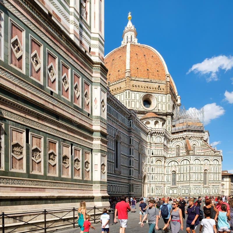 佛罗伦萨大教堂在一个晴朗的夏日 库存照片