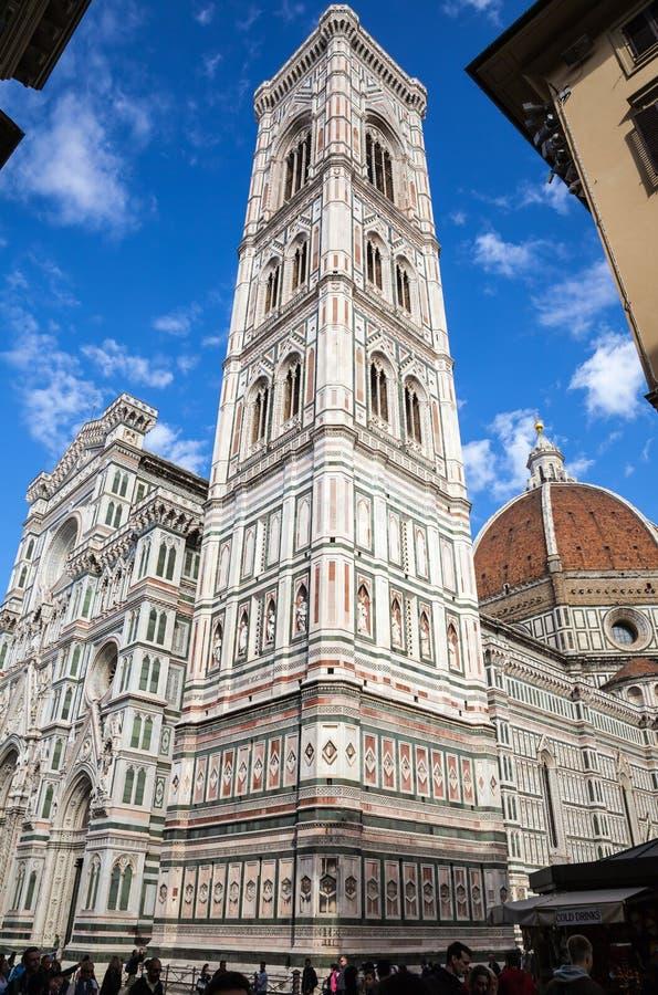 佛罗伦萨大教堂大教堂二圣玛丽亚del菲奥雷Piazza中央寺院 库存图片