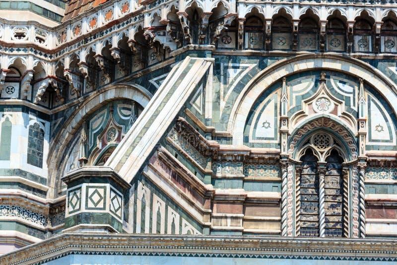 佛罗伦萨大教堂细节,托斯卡纳,意大利 免版税图库摄影