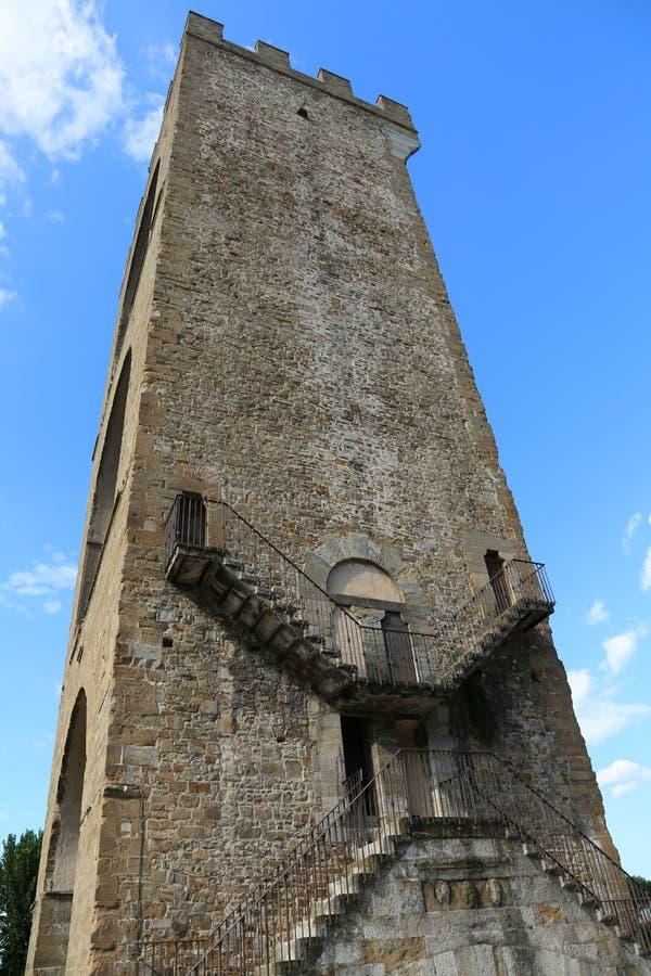 佛罗伦萨意大利古老塔告诉了Torre圣Niccolo用意大利语 库存图片