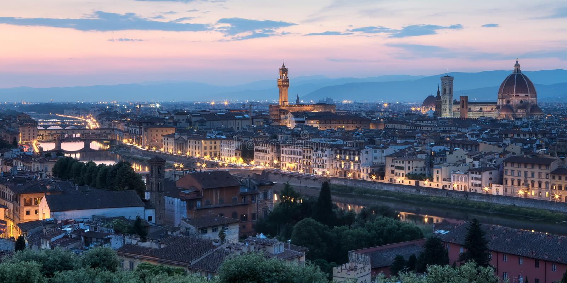 佛罗伦萨意大利地平线 库存图片
