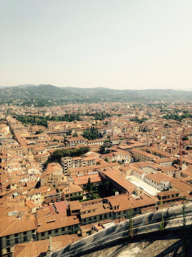 佛罗伦萨意大利看法从上面 免版税库存图片