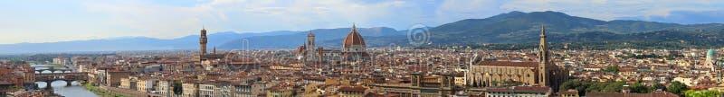 佛罗伦萨意大利难以置信的被缝的全景 免版税图库摄影