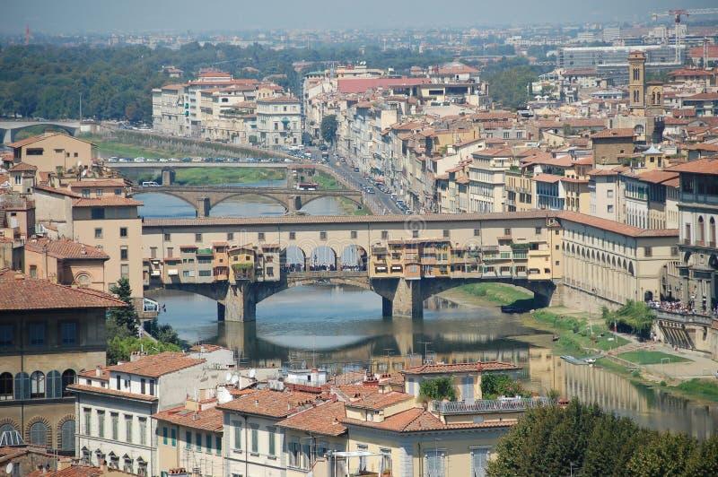 佛罗伦萨意大利 从小山的顶端射击 免版税库存图片