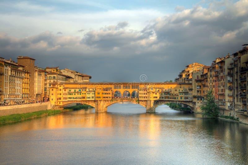 佛罗伦萨意大利ponte vecchio 图库摄影
