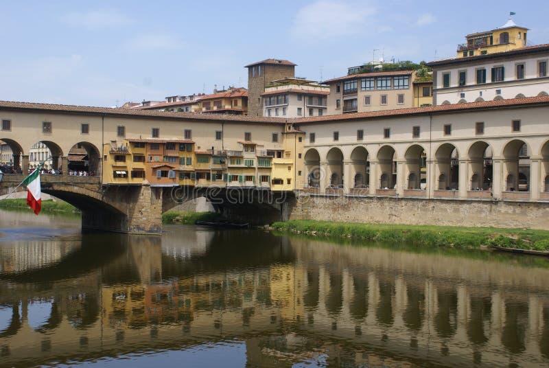 佛罗伦萨横向河 免版税库存图片