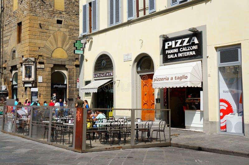 佛罗伦萨比萨店 免版税库存图片