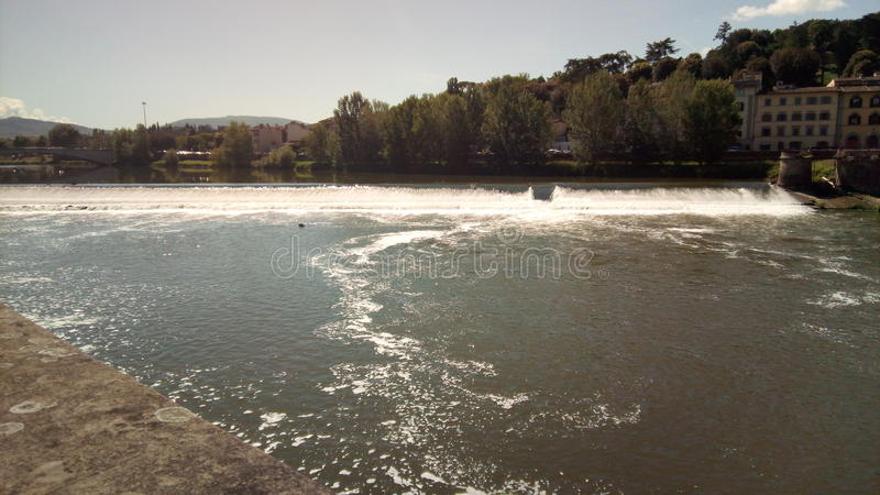佛罗伦萨河 免版税图库摄影