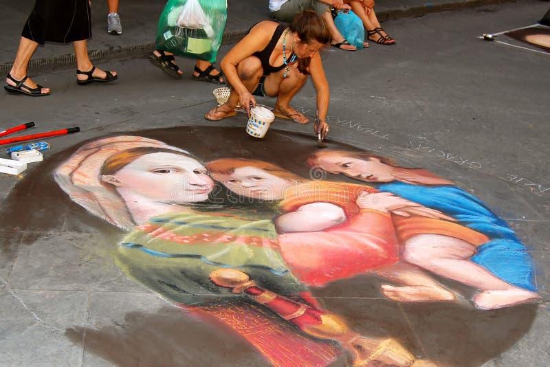 佛罗伦萨画家街道 免版税库存图片