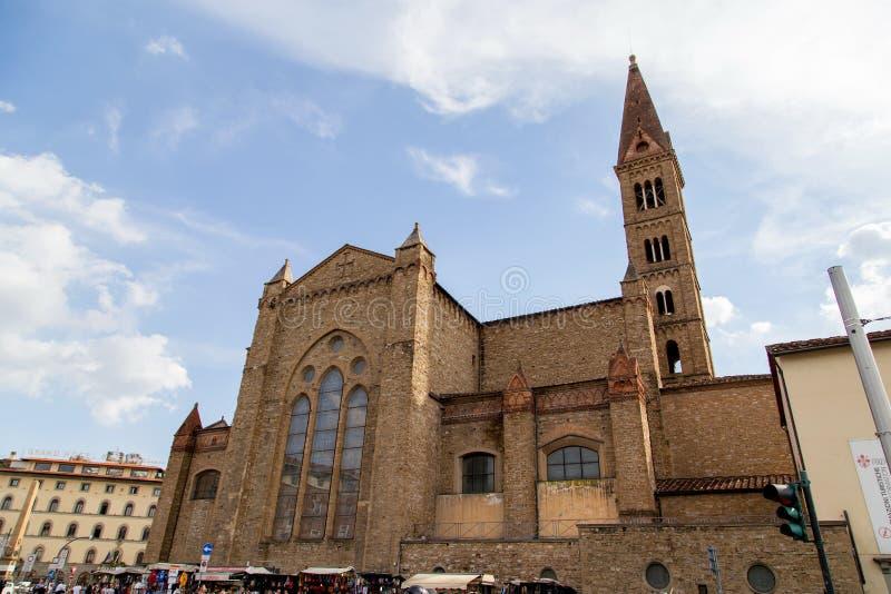 佛罗伦萨的教会 库存图片