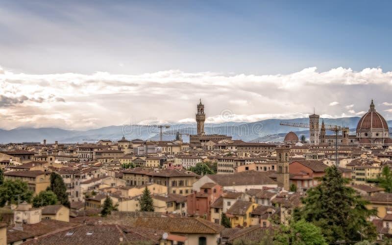 佛罗伦萨的老中央部分的看法 免版税图库摄影