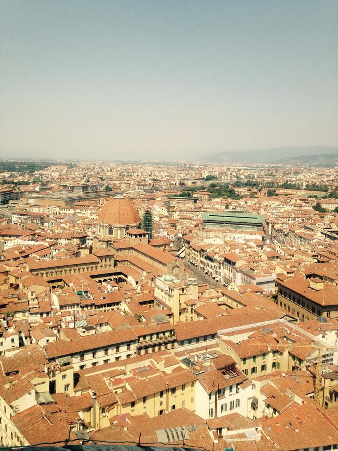 佛罗伦萨看法从上面 免版税库存照片